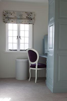 Bespoke bedroom Grand style corner vanity unit