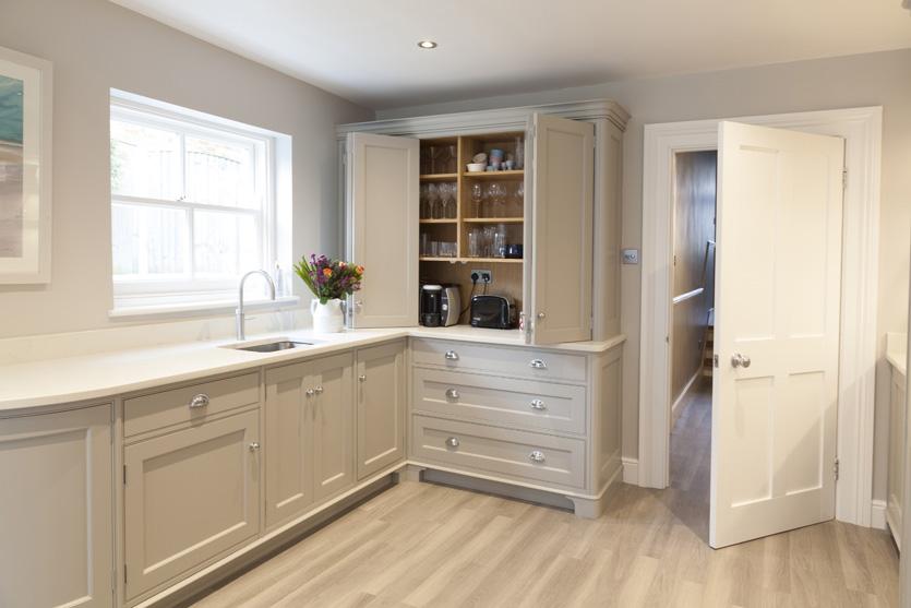 French Grey cupboard storage