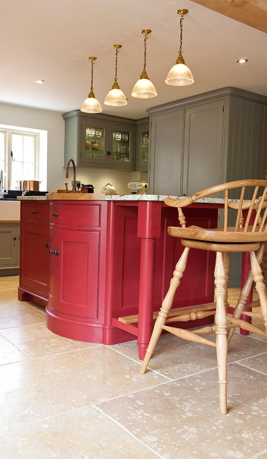 Malting's Grove style kitchen island