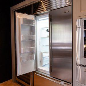 Sub-zero fridge freezer open door